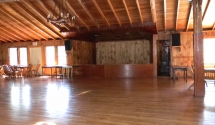 Lodge Stage area - Nice roomy space for your favorite band or DJ to setup