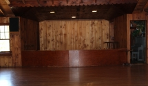 Lodge Stage area - The Lodge has a great speaker system for your DJ