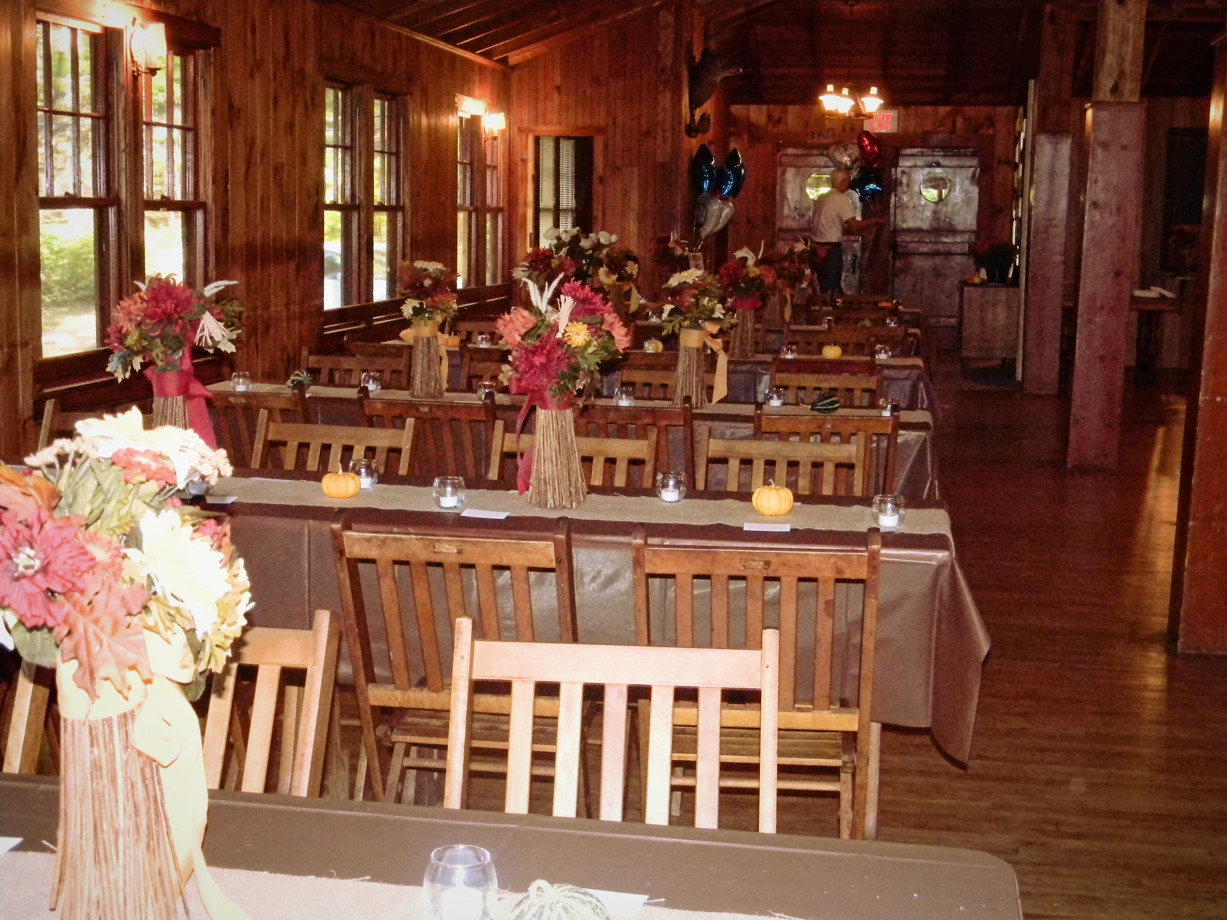 Fall wedding at the Lodge
