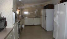 Lodge Kitchen - Lots of refrigeration and appliances to cater your reception or party